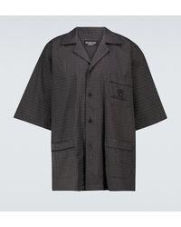 Balenciaga Checked Short-sleeved Pyjama Shirt - Black
