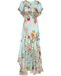 Camilla Embellished Floral Silk Maxi Dress - Multicolor