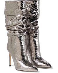 Paris Texas Stiefel aus Leder - Mettallic