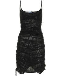 Mugler Mesh Minidress - Black