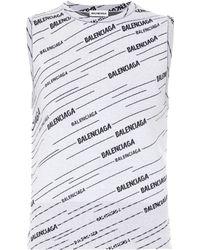 Balenciaga Logo Wool-blend Top - Gray
