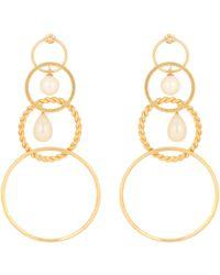 Y. Project - Faux-pearl Embellished Earrings - Lyst