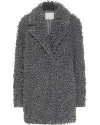 Tibi Faux Shearling Coat - Grey