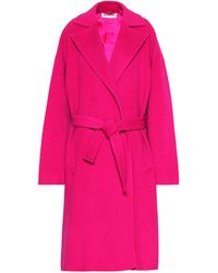 Balenciaga Camel Hair-blend Coat - Pink