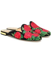 Charlotte Olympia Slippers in jacquard - Multicolore