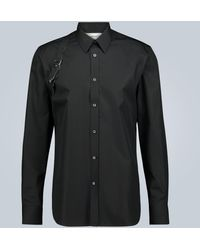 Alexander McQueen Camicia Harness in cotone - Nero