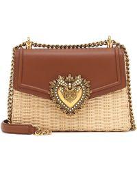 Dolce & Gabbana Devotion Crossbody Bag - Brown