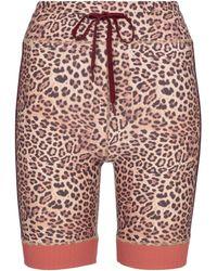 The Upside Spin Leopard-print Biker Shorts - Multicolour