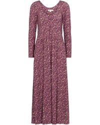 LoveShackFancy Poeta Floral Midi Dress - Purple