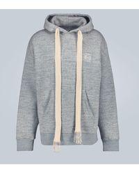 Loewe Oversize-Hoodie aus Baumwolle - Grau