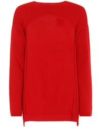 Valentino Cropped Cashmere Jumper - Red