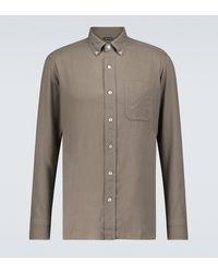 Tom Ford Hemd aus einem Wollgemisch - Grau