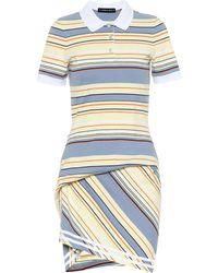Y. Project Striped Cotton Piqué Dress - Yellow