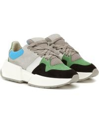 MM6 by Maison Martin Margiela Paneled Suede Sneakers - Multicolor
