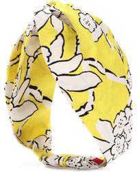 Valentino - Floral-printed Silk Headband - Lyst