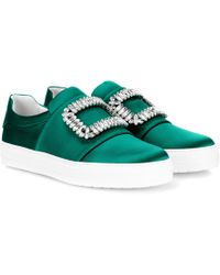Roger Vivier - Sneakers Sneaky Viv' aus Satin - Lyst