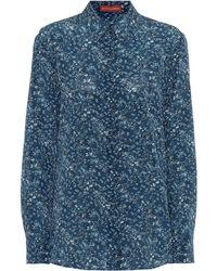 Altuzarra Camisa Chika de crepé de seda - Azul