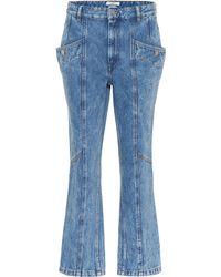Étoile Isabel Marant High-Rise Cropped Jeans Notty - Blau
