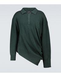 Balenciaga Asymmetric Rugby Polo - Green