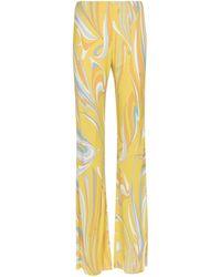 Emilio Pucci Bedruckte Hose aus Seidengemisch - Gelb