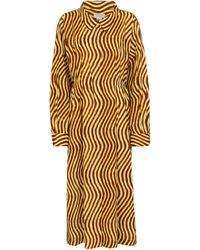 Dries Van Noten Vestido midi de algodón estampado - Multicolor