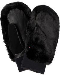 Fusalp Faux Fur Mittens - Black