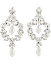 Simone Rocha Cameo Large Embellished Earrings - White
