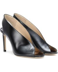 Jimmy Choo Shar 85 Leather Sandals - Black
