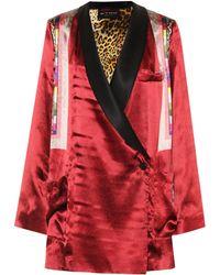 Etro - Wrap Over Printed Satin Jacket - Lyst