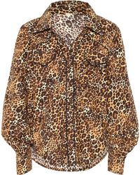 Johanna Ortiz Leopard-print Cotton Shirt - Multicolour