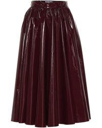 MSGM - Vinyl Skirt - Lyst