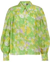 RIXO London Bedrucktes Hemd Blake aus Baumwolle - Grün