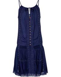 Melissa Odabash Minikleid Chelsea mit Lochspitze - Blau