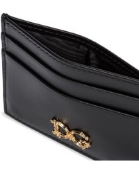 Dolce & Gabbana Kartenetui aus Leder - Schwarz