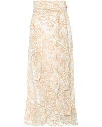 Ganni - Flynn Stretch-lace Wrap Skirt - Lyst