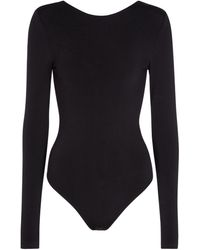 Wolford Body Memphis in jersey - Nero