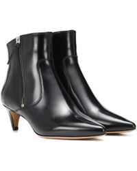 Isabel Marant - Deby Leather Ankle Boots - Lyst