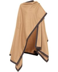 Balmain Wool And Cashmere Cape - Natural
