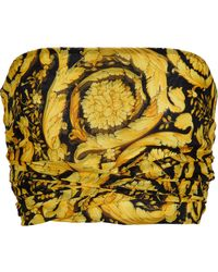 Versace Bedrucktes Top aus Seide - Mettallic