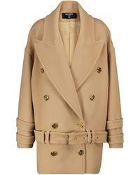 Balmain Oversize-Mantel aus Wolle und Kaschmir - Braun