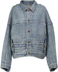 Balenciaga Veste en jean - Bleu