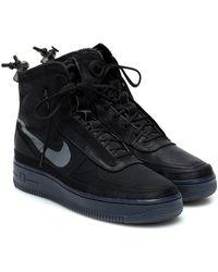 Nike Air Force 1 Shell Sneakers - Black