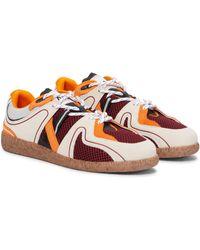 Ganni Sneakers mit Veloursleder - Rot
