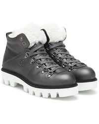 Bogner Copenhagen Leather Snow Boots - Grey