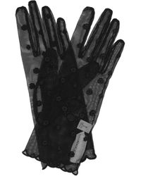 Gucci Handschuhe GG aus Tüll - Schwarz