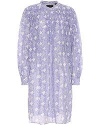 Isabel Marant Robe chemise Erika imprimée en coton et soie - Violet
