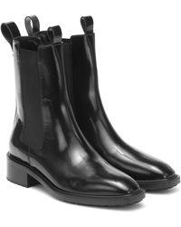 Aeyde Chelsea Boots Simone aus Leder - Schwarz
