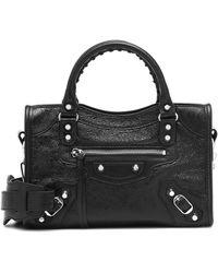 Balenciaga Classic City Mini Leather Tote - Black