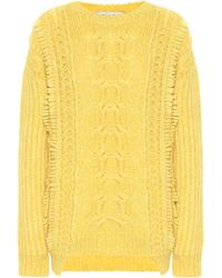 Stella McCartney Alpaca Cable-knit Jumper - Yellow