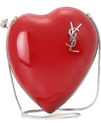 Saint Laurent - Love Leather Shoulder Bag - Lyst